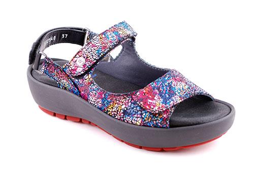 Wolky Sandal Black Multi