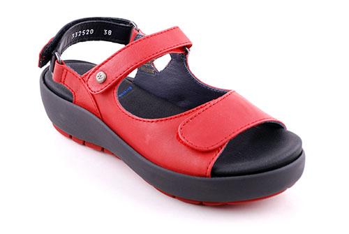 Wolky Ergonomisk Sandal Röd
